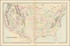 United States Map By William Bradley & Bros.