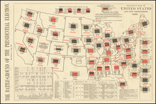 The Battle-Ground Of The Presidential Election (10 Maps + Text) By Harper's Weekly