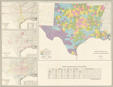 Texas Map By American Map Company
