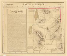 Southwest, Utah, Rocky Mountains and Utah Map By Philippe Marie Vandermaelen