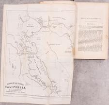 California, San Francisco & Bay Area, Rare Books and Fair Map By Joseph W. Revere