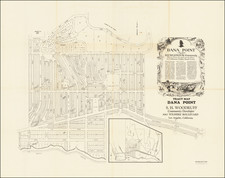 California and Other California Cities Map By Sidney H. Woodruff / Hollywood Blue Print Co.