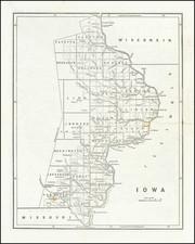 Iowa Map By Sidney Morse  &  Samuel Breese
