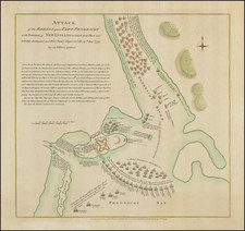 New England, Maine and American Revolution Map By Paul de Rapin de Thoyras