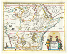 East Africa and West Africa Map By Matthaeus Merian