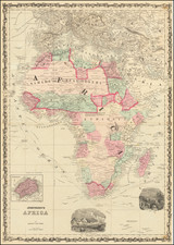 Africa Map By Benjamin P Ward  &  Alvin Jewett Johnson