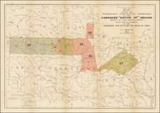 Arkansas and Oklahoma & Indian Territory Map By C.C. Royce