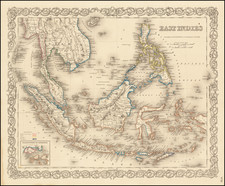 Philippines, Singapore and Indonesia Map By G.W.  & C.B. Colton
