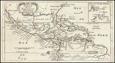 Southeast, New Mexico, Caribbean and South America Map By William Dampier