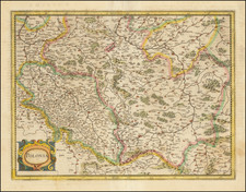 Poland Map By Henricus Hondius