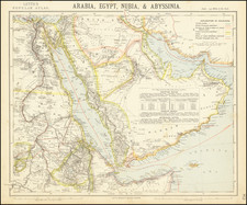 Middle East and Arabian Peninsula Map By Letts, Son & Co. Limited