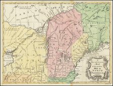 United States, New England, Maine, American Revolution and Canada Map By Universal Magazine