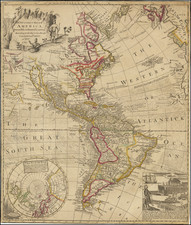 United States, North America, California as an Island and America Map By George Foster