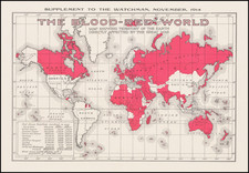 World and World War I Map By The Watchmen