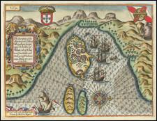 East Africa and African Islands, including Madagascar Map By John Wolfe / Jan Huygen van  Linschoten