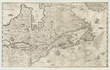 United States, New England and Canada Map By Samuel de Champlain