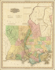 South, Louisiana and Mississippi Map By Henry Schenk Tanner