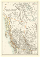 Western Canada Map By Adam & Charles Black