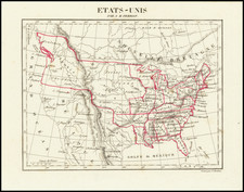 United States, Midwest, Plains and Missouri Map By Aristide Michel Perrot