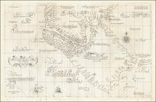 Carta Particolare dello Stretto di Magellano e di Maire By Robert Dudley