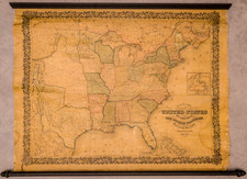 United States Map By Joseph Hutchins Colton