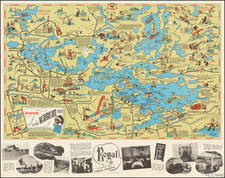 Minnesota and Pictorial Maps Map By Frank Antoncich