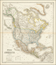 Utah, Utah and North America Map By Heinrich Kiepert