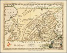 Mid-Atlantic and Pennsylvania Map By Thomas Kitchin