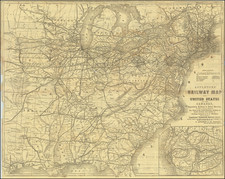 United States Map By D. Appleton