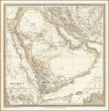 Middle East and Arabian Peninsula Map By Heinrich Kiepert