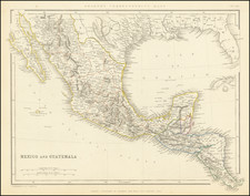 Texas, Mexico and Caribbean & Central America Map By Chapman & Hall