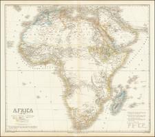 Africa Map By Heinrich Kiepert