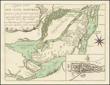 Eastern Canada Map By Gabriel Nikolaus Raspe