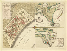 South, Louisiana and New Orleans Map By Isaak Tirion