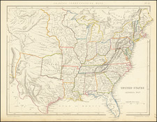 United States and Texas Map By Chapman & Hall