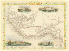 West Africa Map By John Tallis