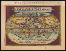 World Map By Abraham Ortelius / Johannes Baptista Vrients