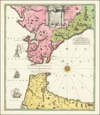 Carte nouvelle De L'Isle de Cadix & du Detroit de Gibraltar Levee par Jean de Petit… Publicee par Mr. Weidler… By Johann Baptist Homann