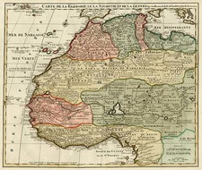 Africa, North Africa and West Africa Map By Jan Barend Elwe