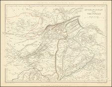 India and Central Asia & Caucasus Map By Chapman & Hall