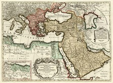Europe, Turkey, Mediterranean, Asia, Middle East and Turkey & Asia Minor Map By Jan Barend Elwe