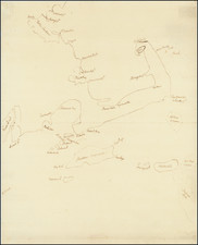 New England, Massachusetts and Boston Map By Anonymous