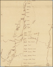 New England, New Hampshire, Vermont and New York State Map By Anonymous