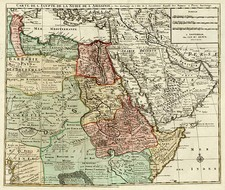 Asia, Middle East, Africa, North Africa and East Africa Map By Jan Barend Elwe