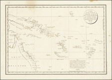 Australia and Other Pacific Islands Map By Jean Francois Galaup de La Perouse