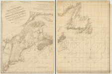 New England, Maine, Massachusetts, New York State, New Jersey and Eastern Canada Map By Joseph Frederick Wallet Des Barres