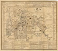 Ohio Map By W. W. Warner