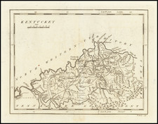 Kentucky Map By Mathew Carey