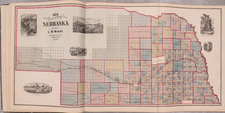 Nebraska and Atlases Map By C.H. Jones  &  Theodore F. Hamilton