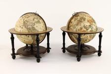 Globes & Instruments Map By Jan Jansson / Abraham Goos / Jodocus Hondius II